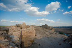 Medieval fortress. The remains of the medieval fortress of Gormaz, Spain Stock Photos