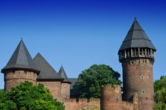 Medieval Fortress. Burg Linn in Krefeld, Germany Royalty Free Stock Photography