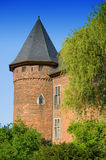 Medieval Fortress. Burg Linn in Krefeld, Germany Stock Image