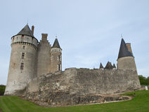 Medieval fortress. In Loire valley Royalty Free Stock Photo