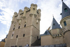 Medieval fortress, alcazar castle city of Segovia, Spain. Old to Royalty Free Stock Images