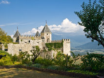 Medieval fortress in Alps. Royalty Free Stock Photo