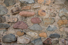 Medieval Fortress Antique Stone Rampart Detail Stock Image