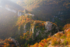 Medieval fortress in the autumn ambience Royalty Free Stock Photos