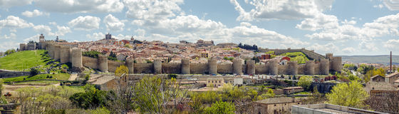 Medieval fortress of Avila Stock Images