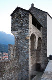 Medieval fortress of Bellinzona. Stock Photos