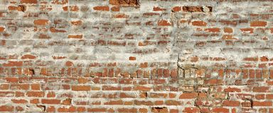 Medieval Fortress Brick White Red Wall Rough Grunge Texture Stock Image