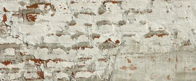 Medieval Fortress Brick White Red Wall Rough Grunge Texture Royalty Free Stock Photography