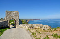 Medieval fortress on Cape Kaliakra Royalty Free Stock Images