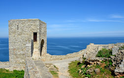 Medieval fortress on Cape Kaliakra, Black Sea Royalty Free Stock Photography
