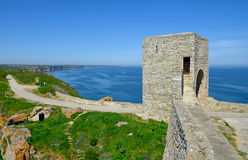 Medieval fortress on Cape Kaliakra, Black Sea Stock Photo