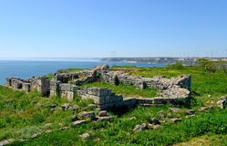 Medieval fortress on Cape Kaliakra, Black Sea Royalty Free Stock Image