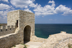 The medieval fortress on cape Kaliakra, Bulgaria Royalty Free Stock Images