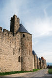 Medieval fortress Carcasson in France Royalty Free Stock Images