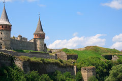 The medieval fortress in Carpathians Royalty Free Stock Photo
