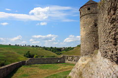 The medieval fortress in Carpathians. The medieval fortress in Kamenets Podolskiy, Carpathians, Ukraine Royalty Free Stock Image