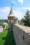 The medieval fortress in Carpathians. The medieval fortress in Kamenets Podolskiy, Carpathians, Ukraine Stock Image