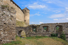 The medieval fortress in Carpathians. The medieval fortress in Kamenets Podolskiy, Carpathians, Ukraine Royalty Free Stock Photography