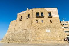 Medieval fortress of Castellammare del Golfo in Sicily, Italy Royalty Free Stock Image