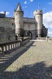 Medieval stone fortress Het Steen, Antwerp city, Belgium stock images