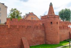 Medieval fortress in the center of Warsaw. Stock Photography