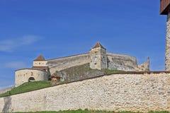 Medieval fortress ,citadel, in Rasnov, Brasov, Transylvania, Romania stock images