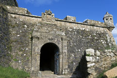 Medieval Fortress of the city Valenca, Portugal Stock Photo