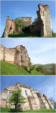 Medieval fortress - collage. Collage of 3 pictures with medieval fortress walls Royalty Free Stock Images