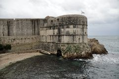 Medieval fortress of Dubrovnik, Croatia. By the shores of the Mediterranean Sea Stock Photo