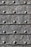 Medieval Fortress Gate Armored Iron Plated Door Detail Stock Photo