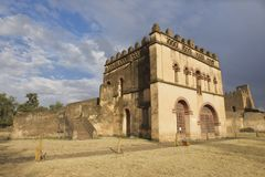 Medieval fortress in Gondar, Ethiopia, UNESCO World Heritage site Royalty Free Stock Photo