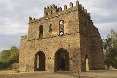 Medieval fortress in Gondar, Ethiopia, UNESCO World Heritage site Stock Image