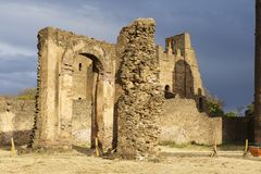 Medieval fortress in Gondar, Ethiopia, UNESCO World Heritage site Royalty Free Stock Photography