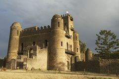 Medieval fortress in Gondar, Ethiopia, UNESCO World Heritage site Royalty Free Stock Image