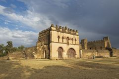 Medieval fortress in Gondar, Ethiopia, UNESCO World Heritage site. Royalty Free Stock Photo