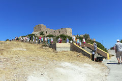Medieval fortress in Greece. Medieval fortress in Greece on the island of Rhodes on the coast of the Mediterranean Sea Stock Photography
