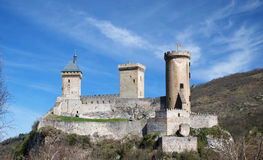 Medieval fortress on the hill Royalty Free Stock Photo