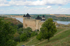 Medieval_fortress_Hotiv Photographie stock