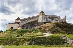 Medieval Fortress In Rasnov, Transylvania, Brasov Royalty Free Stock Images