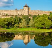 Medieval Fortress. Ivangorod, Russia royalty free stock photography