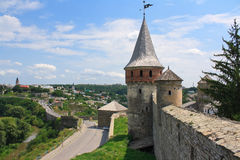 The medieval fortress in Kamenets Podolskiy. Carpathians, Ukraine Royalty Free Stock Image