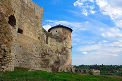 The medieval fortress in Kamenets Podolskiy Stock Photos