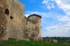 The medieval fortress in Kamenets Podolskiy stock photos