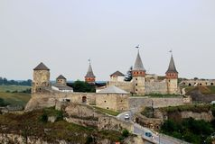 The medieval fortress in Kamenets Podolskiy, Ukrai Stock Photography