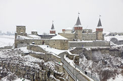 Medieval fortress of Kamyanets-Podilsky, Ukraine Stock Photography