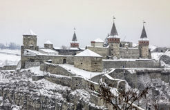 Medieval fortress of Kamyanets-Podilsky, Ukraine Royalty Free Stock Images