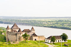Medieval Fortress Khotyn Royalty Free Stock Photos