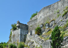 Medieval fortress of Lourdes Royalty Free Stock Images