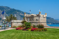Medieval fortress in Menton, France. Royalty Free Stock Photography