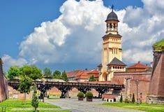 Alba Iulia, Romania. Old medieval fortress Alba Iulia in Romania stock photo